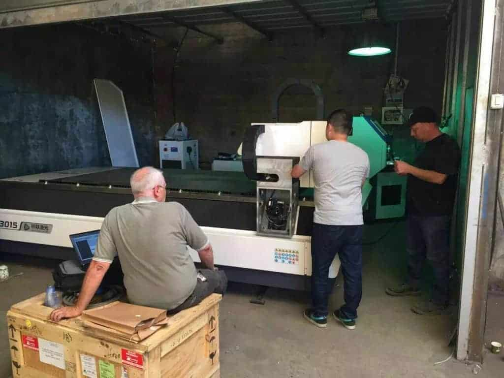 New type fiber laser cutter installed in Israel!