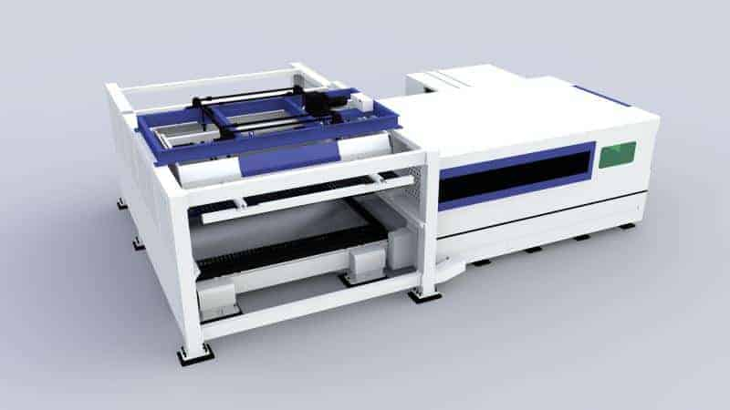 Machine de découpe laser à fibre avec fonction de chargement et déchargement automatique de feuilles