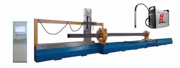 Плазменный станок для резки квадратных труб с ЧПУ